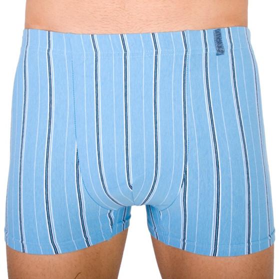 Pánské boxerky Molvy světle modré s proužky