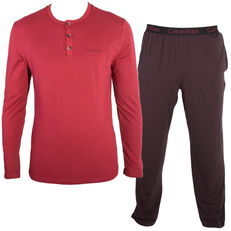 Pánské Pyžamo Calvin Klein Red Black M