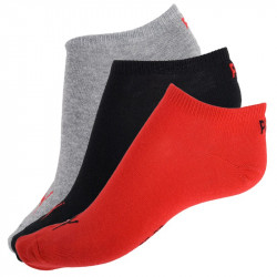 3PACK Ponožky Puma Sneaker Black Red Grey