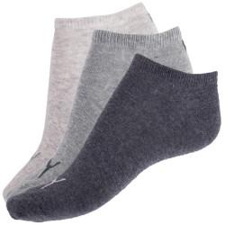 3PACK Ponožky Puma Sneaker Grey