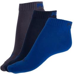 3PACK Ponožky Puma Quarter Blue Grey