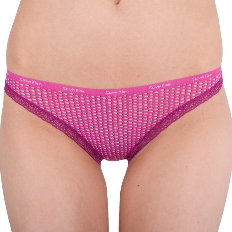 Dámské kalhotky Calvin Klein bottoms up bikini růžové