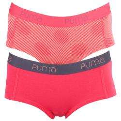 2Pack Dámské Kalhotky Puma Mini Short Rose Red
