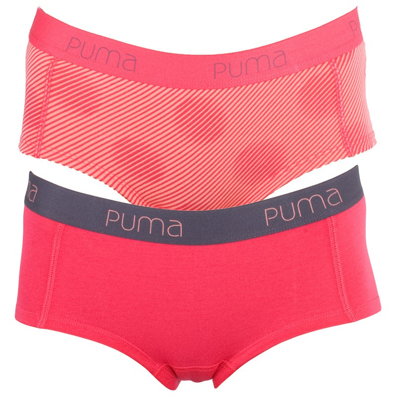 2Pack Dámské Kalhotky Puma Mini Short Rose Red S