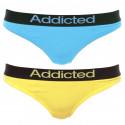 2pack dámská tanga Addicted modrá žlutá