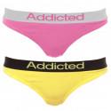 2pack dámská tanga Addicted růžová žlutá