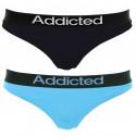 2pack dámská tanga Addicted černá modrá