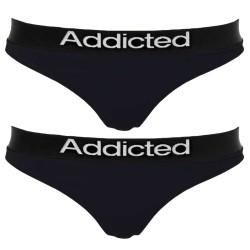 2pack Dámská Tanga Addicted Černá Žlutá