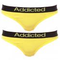 2pack Dámská Tanga Addicted Žlutá