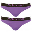 2pack dámská tanga Addicted fialová