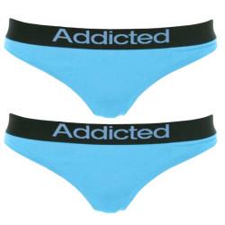 2pack dámská tanga Addicted modrá