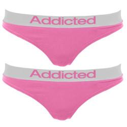2pack dámská tanga Addicted růžová