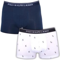2PACK Pánské Boxerky Polo White & Dark Blue Logos