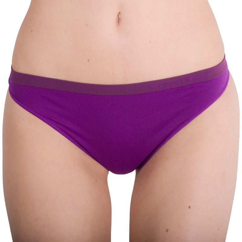 Dámská Bezešvá Tanga Calvin Klein Purple XS