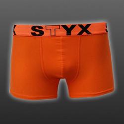 Pánské boxerky Styx sportovní guma nadrozměr oranžové (R661)