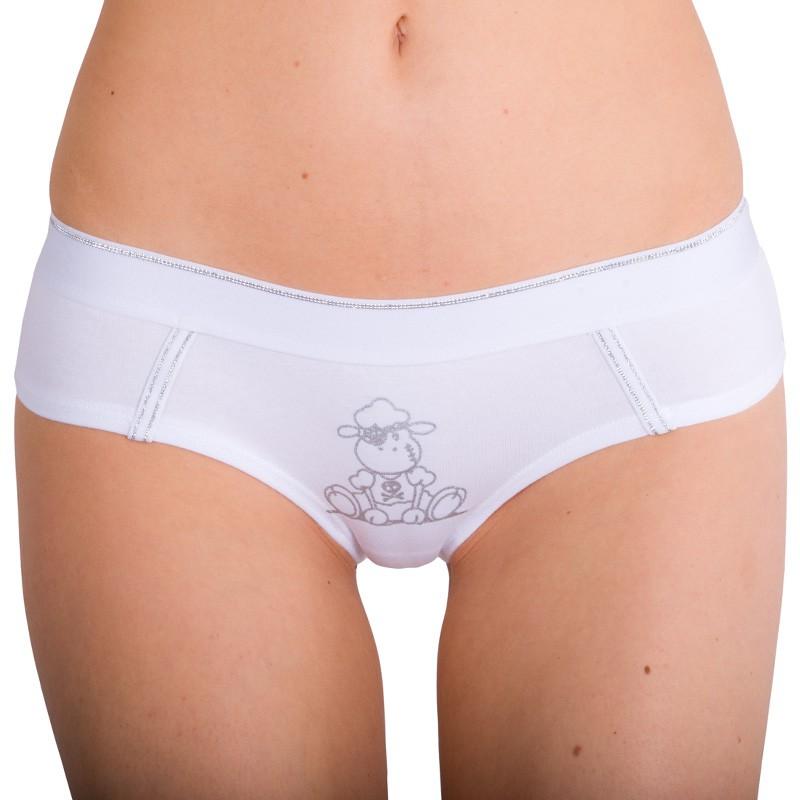 Dámské Kalhotky Molvy Bílé S Ovečkou S