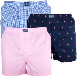 Pánské Trenýrky Polo Ralph Lauren Blue Pink Logo
