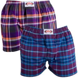 2PACK Pánské Trenýrky Styx Classic Flanel Purple Dream