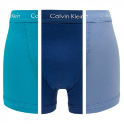 3PACK Pánské Boxerky Calvin Klein Cotton Stretch Trunk Blue