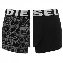 2PACK Pánské Boxerky Diesel Trunk Black&Silver Words