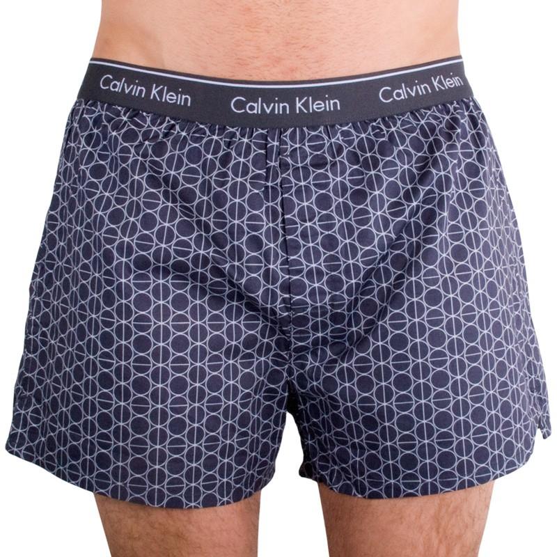 Pánské trenýrky Calvin Klein Classic Fit šedé kruhy S