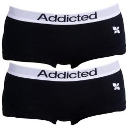 2PACK Dámské Kalhotky Addicted Černá