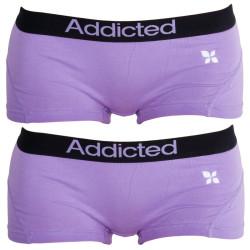 2PACK dámské kalhotky Addicted fialová