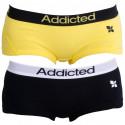 2PACK dámské kalhotky Addicted černo žlutá