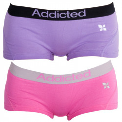 2PACK dámské kalhotky Addicted fialová růžová