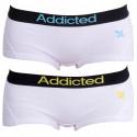2PACK dámské kalhotky Addicted bílá modrá bílá žlutá