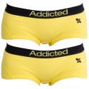 2PACK dámské kalhotky Addicted žlutá