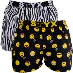 2PACK Pánské Trenýrky Styx Sport Art Zebra Smile