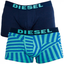 2PACK Pánské Boxerky Diesel Trunk All Over Turquoise