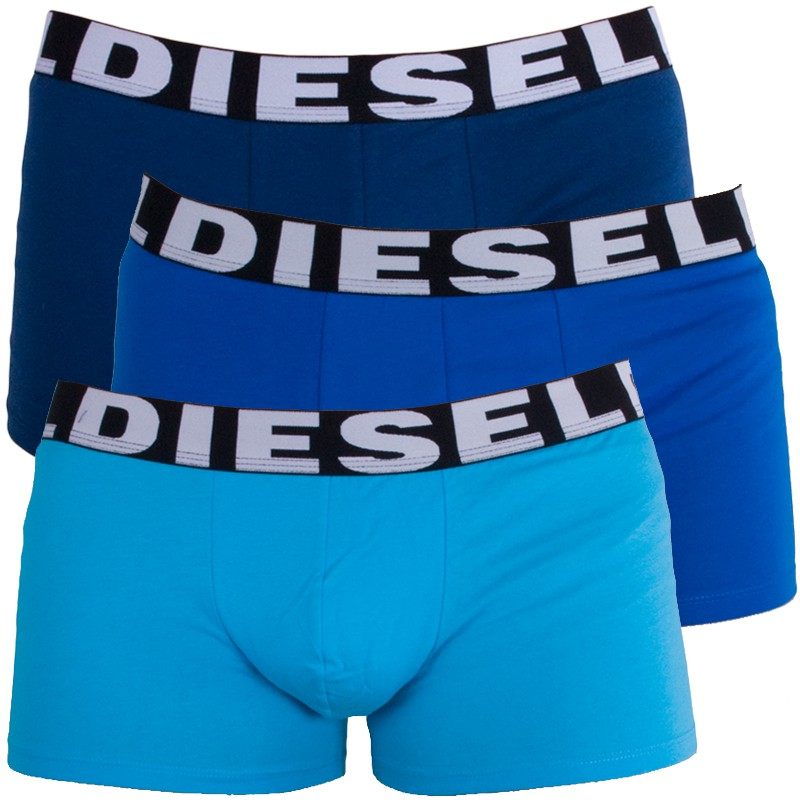 3PACK Pánské Boxerky Diesel Trunk Turquoise Royal Blue Shawn S