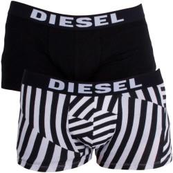 2PACK Pánské Boxerky Diesel Trunk Black&White