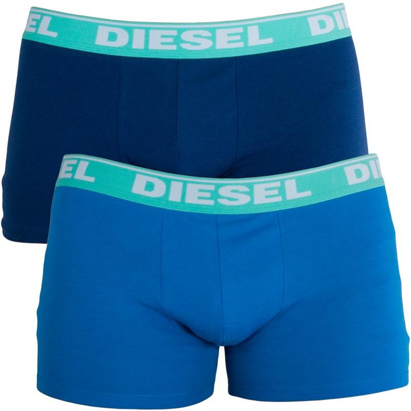 2PACK Pánské Boxerky Diesel Trunk Fresh&Bright Light Blue Dark Blue S