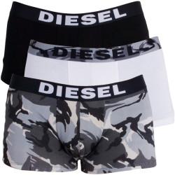 3PACK Pánské Boxerky Diesel Trunk Black White Army