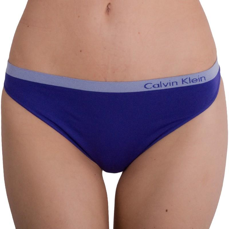 Dámská tanga Calvin Klein Seamless fialové XS