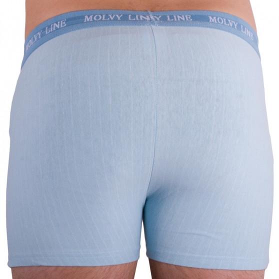 Pánské boxerky Molvy světle modré s bílým pruhem