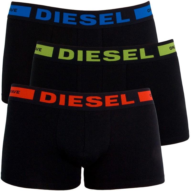 3PACK Pánské Boxerky Diesel Black&Color Edition S