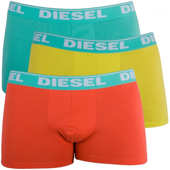3PACK Pánské Boxerky Diesel Trunk Fresh&Bright Green Orange Yellow