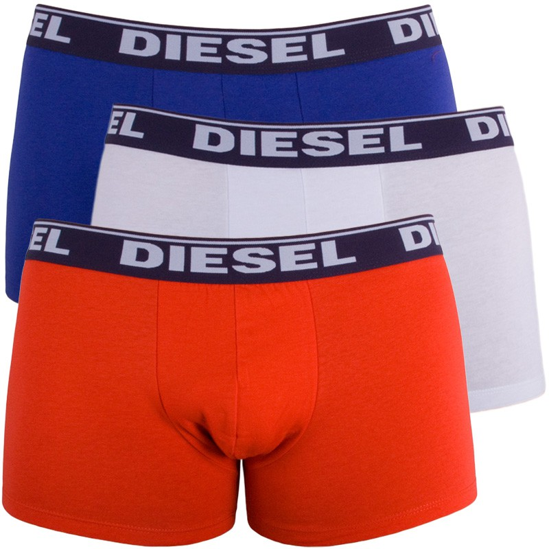 3PACK Pánské Boxerky Diesel Trunk Fresh&Bright White Orange Purple S
