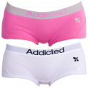 2PACK dámské kalhotky Addicted růžová bílá