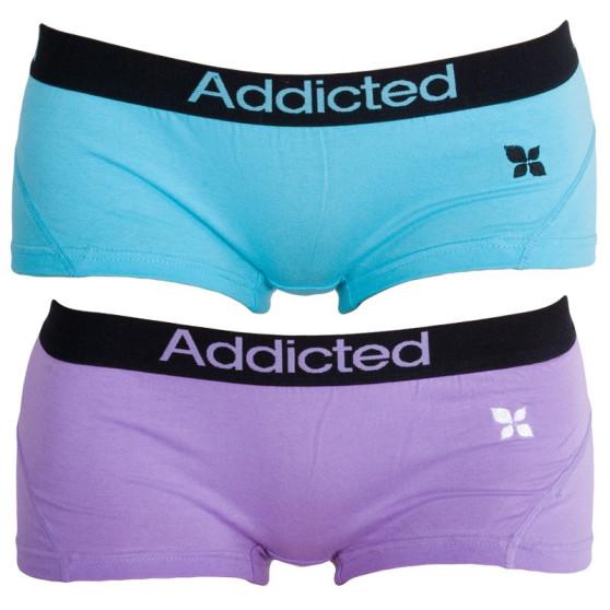 2PACK dámské kalhotky Addicted fialová modrá