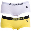 2PACK dámské kalhotky Addicted žlutá bílá