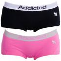 2PACK dámské kalhotky Addicted černá růžová