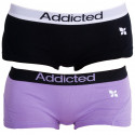 2PACK dámské kalhotky Addicted černá fialová