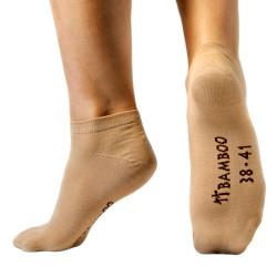 Ponožky Gino Bezešvé Kotníčkové Bamboo Koňak