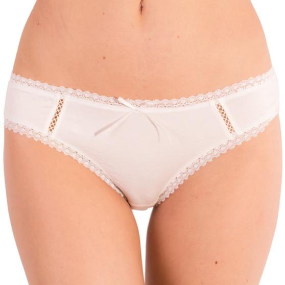 Dámské kalhotky Molvy smetanové s krajkou