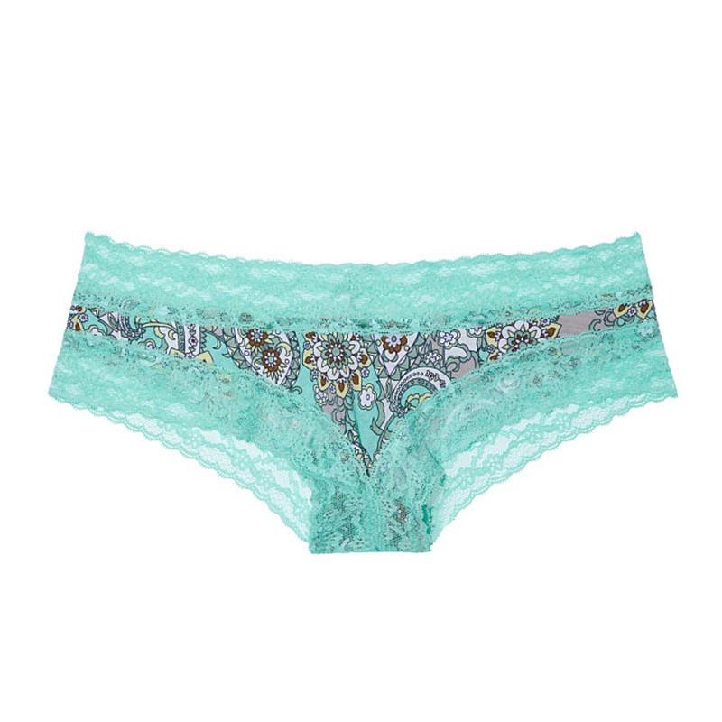 Dámské kalhotky Victoria's Secret cheeky aqua retro paisley S